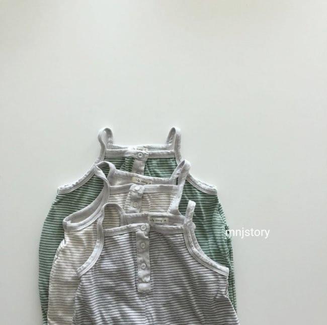 GURU GURU - Korean Children Fashion - #Kfashion4kids - Stripes Dungarees - 2