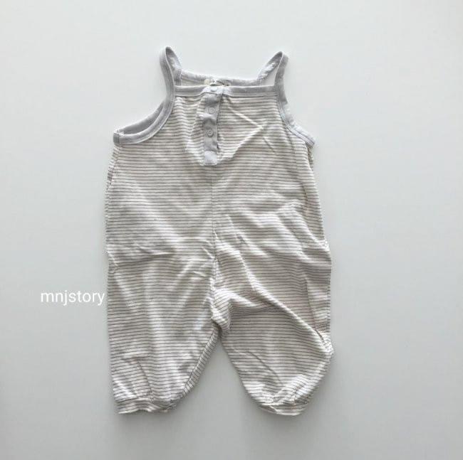 GURU GURU - Korean Children Fashion - #Kfashion4kids - Stripes Dungarees - 3