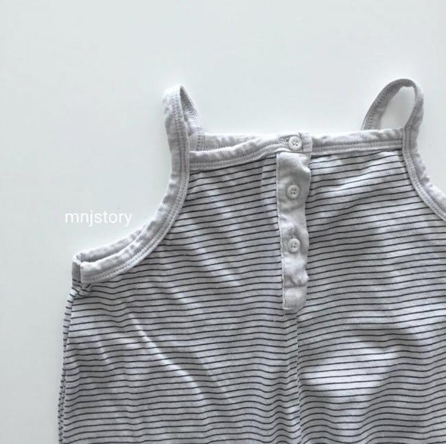 GURU GURU - Korean Children Fashion - #Kfashion4kids - Stripes Dungarees - 4