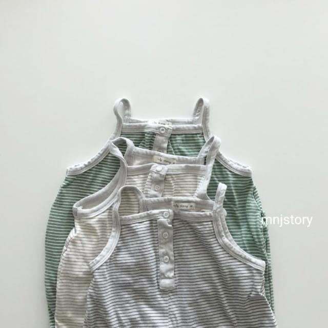 GURU GURU - BRAND - Korean Children Fashion - #Kfashion4kids - Stripes Dungarees