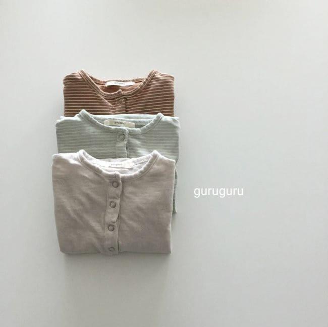 GURU GURU - Korean Children Fashion - #Kfashion4kids - Stripes Boxy Bodysuit