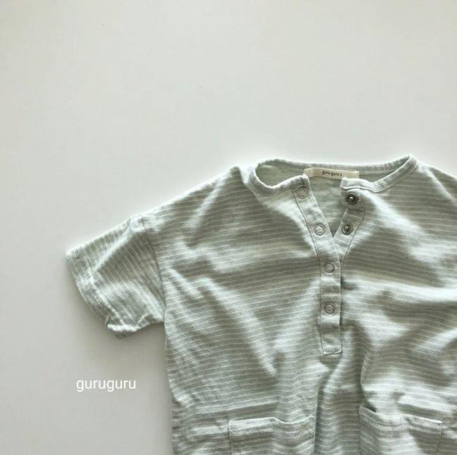 GURU GURU - Korean Children Fashion - #Kfashion4kids - Stripes Boxy Bodysuit - 3