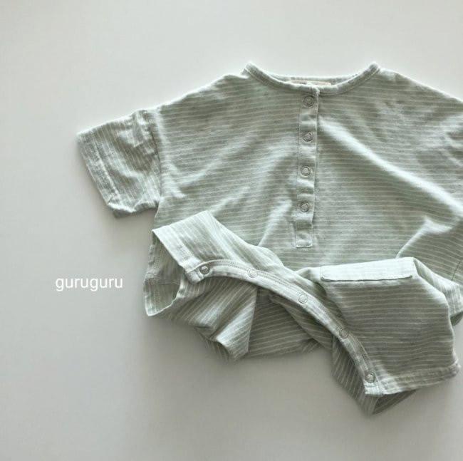 GURU GURU - Korean Children Fashion - #Kfashion4kids - Stripes Boxy Bodysuit - 4