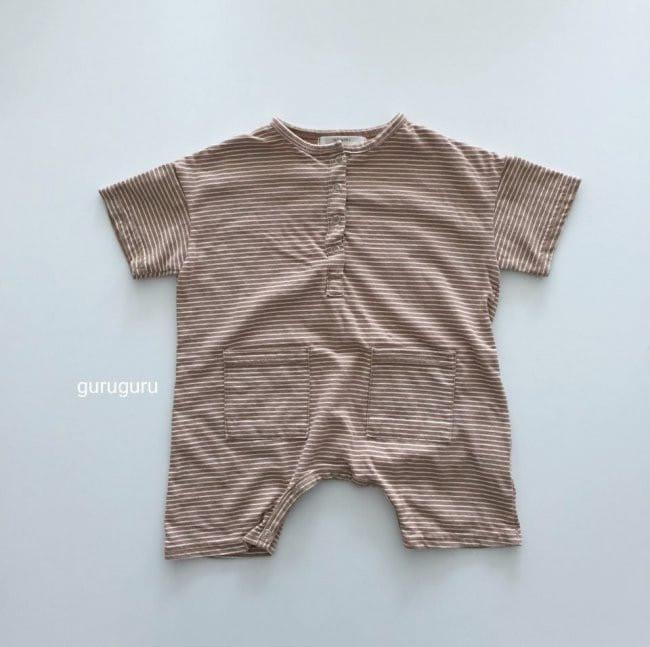 GURU GURU - Korean Children Fashion - #Kfashion4kids - Stripes Boxy Bodysuit - 6