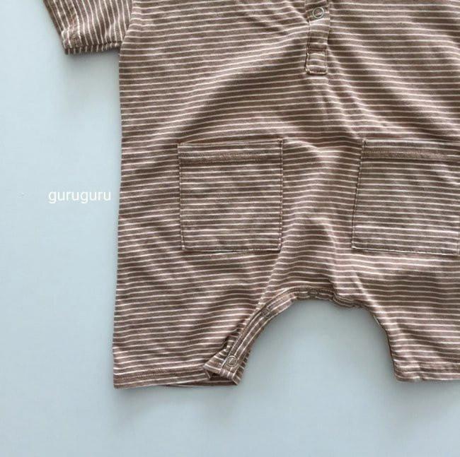 GURU GURU - Korean Children Fashion - #Kfashion4kids - Stripes Boxy Bodysuit - 7