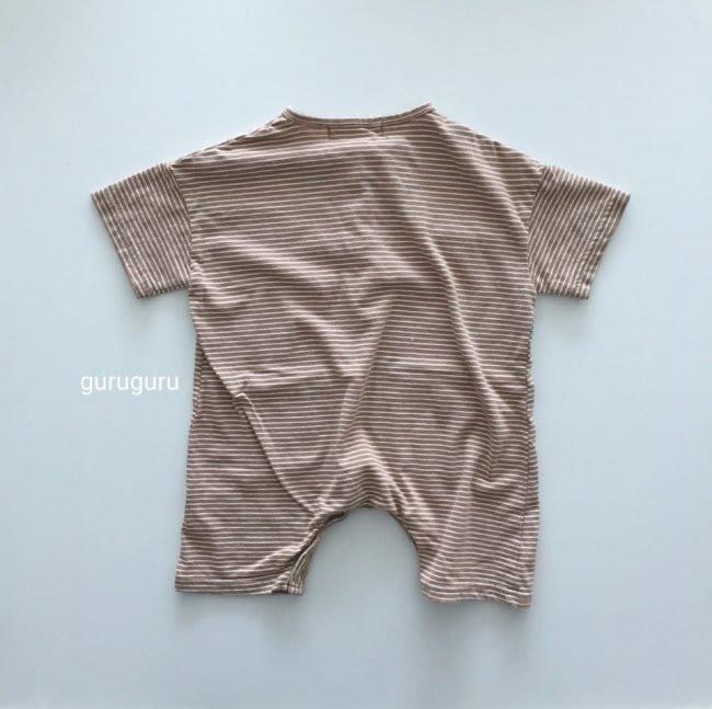 GURU GURU - Korean Children Fashion - #Kfashion4kids - Stripes Boxy Bodysuit - 8