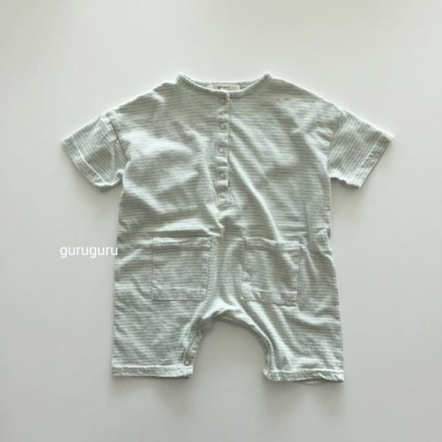 GURU GURU - BRAND - Korean Children Fashion - #Kfashion4kids - Stripes Boxy Bodysuit