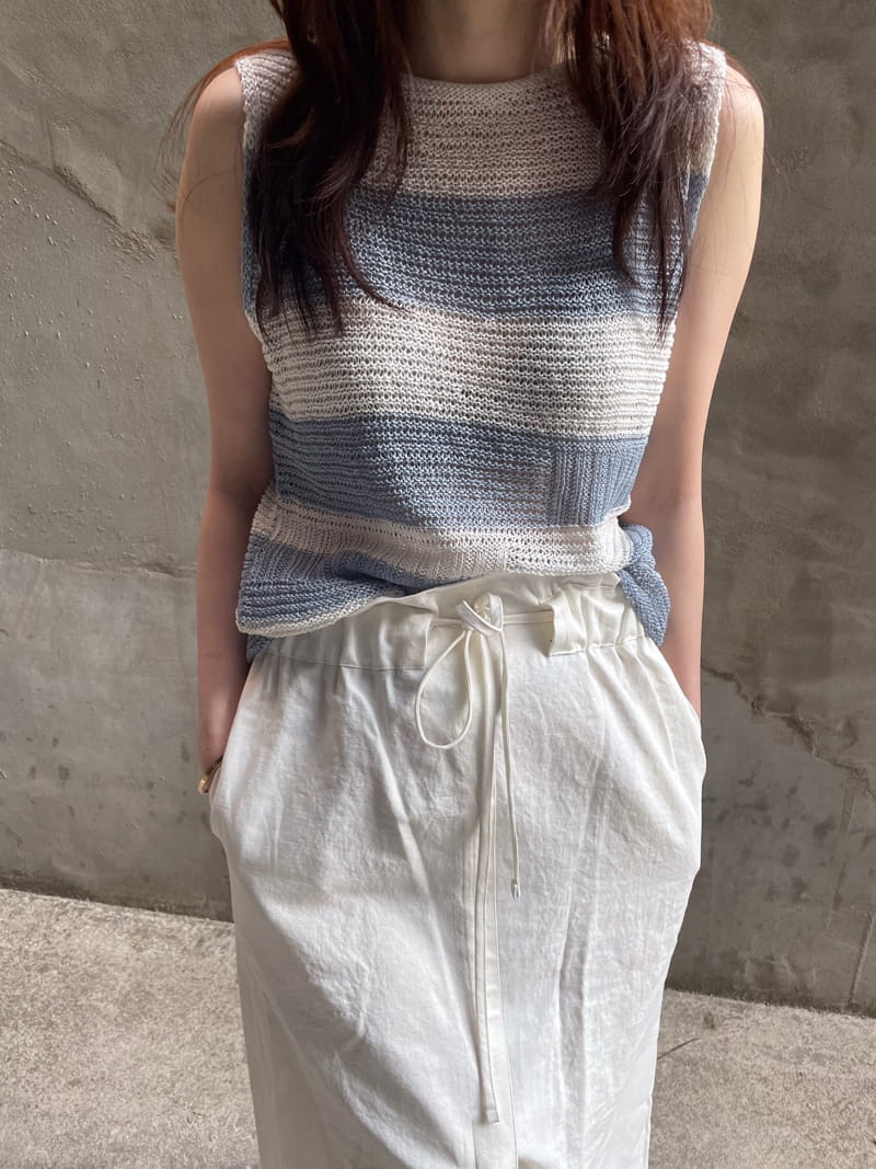 HUE - BRAND - Korean Children Fashion - #Kfashion4kids - Angdo Stripes Sleeveless