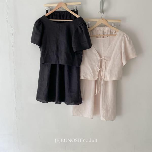 JEJEUNOSITY - Korean Children Fashion - #Kfashion4kids - Mom Bally Top Bottom Set - 2