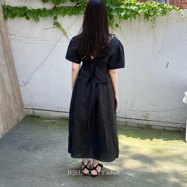 JEJEUNOSITY - Korean Children Fashion - #Kfashion4kids - Mom Bally Top Bottom Set - 6