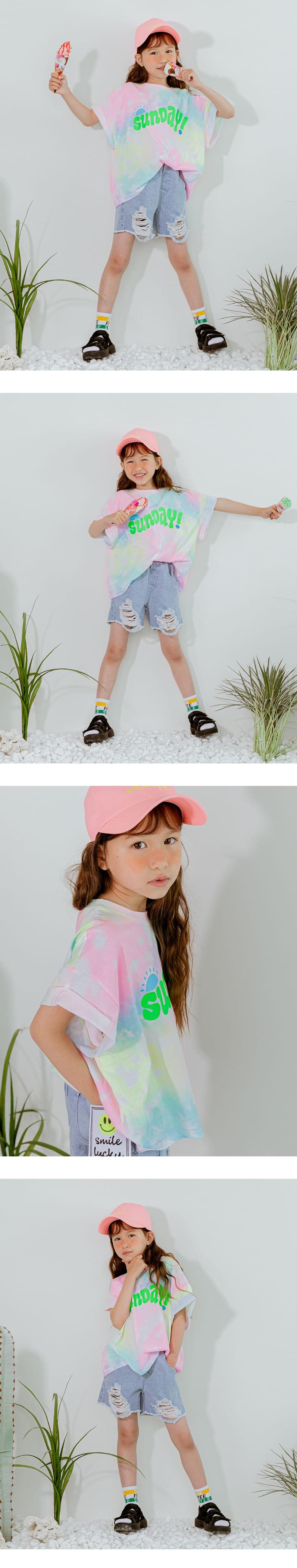 LILAS - Korean Children Fashion - #Kfashion4kids - Sunday Water Paint Tee - 2