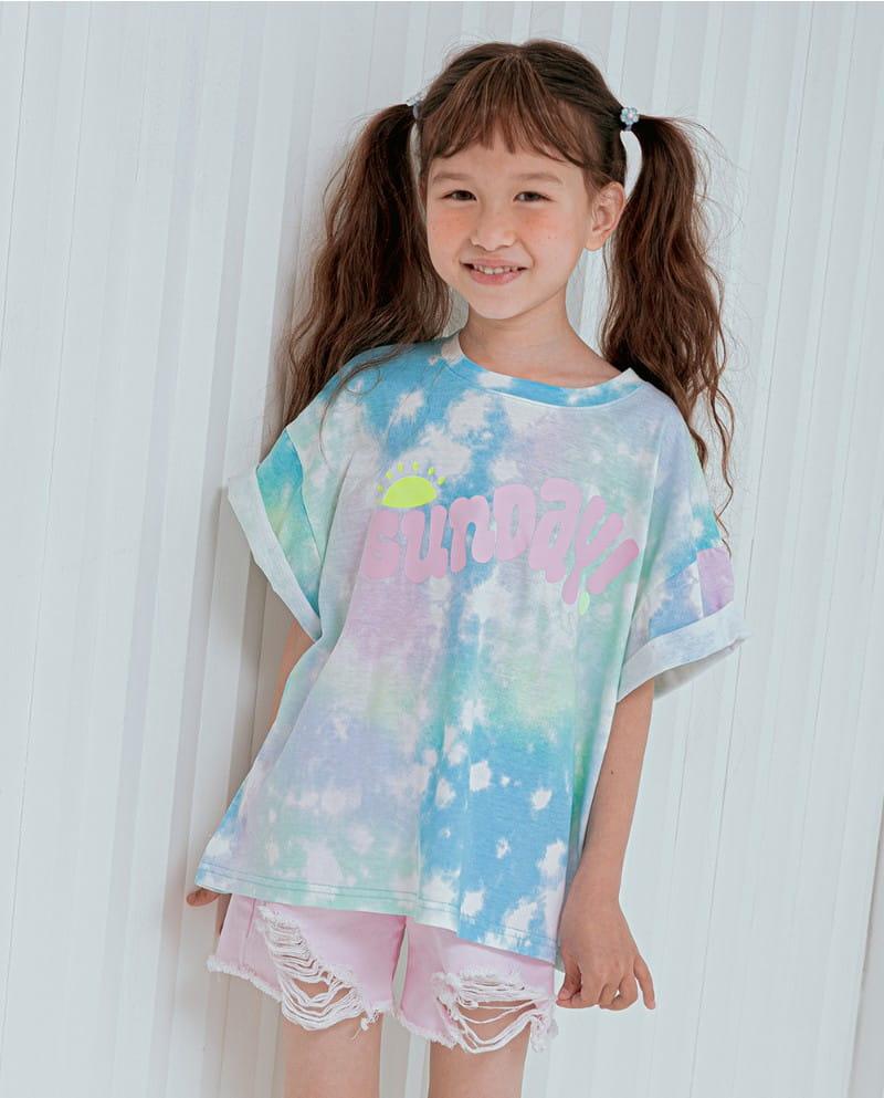 LILAS - Korean Children Fashion - #Kfashion4kids - Sunday Water Paint Tee - 3
