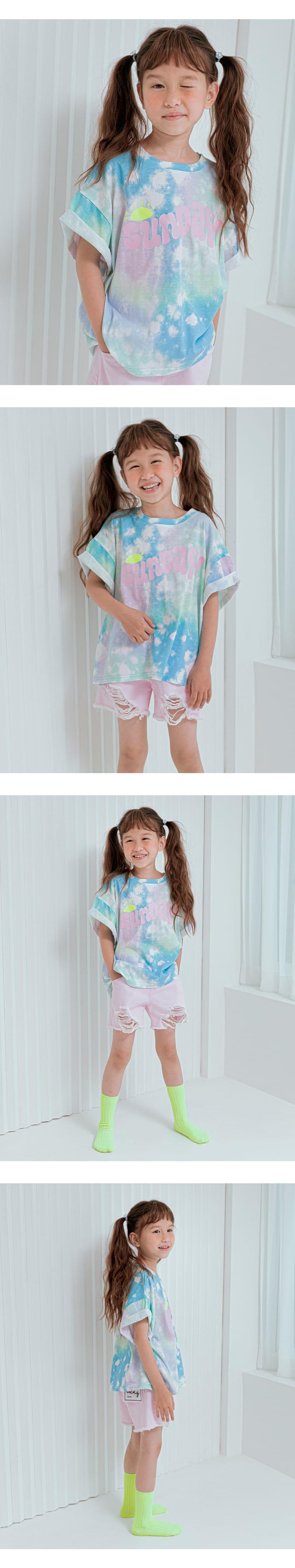 LILAS - Korean Children Fashion - #Kfashion4kids - Sunday Water Paint Tee - 4