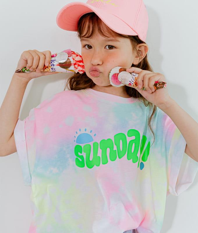 LILAS - BRAND - Korean Children Fashion - #Kfashion4kids - Sunday Water Paint Tee
