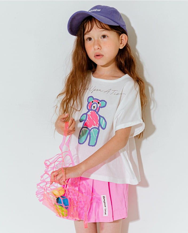 LILAS - Korean Children Fashion - #Kfashion4kids - Once Bear Tee - 3