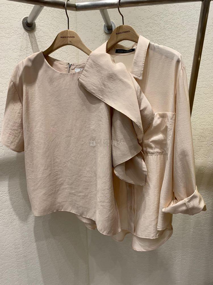 MARIE STUDIOS - Korean Children Fashion - #Kfashion4kids - Shoulder Frill Blouse