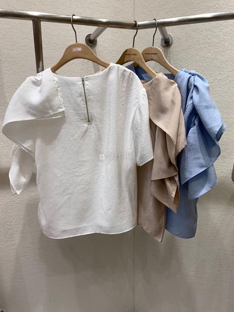 MARIE STUDIOS - Korean Children Fashion - #Kfashion4kids - Shoulder Frill Blouse - 5