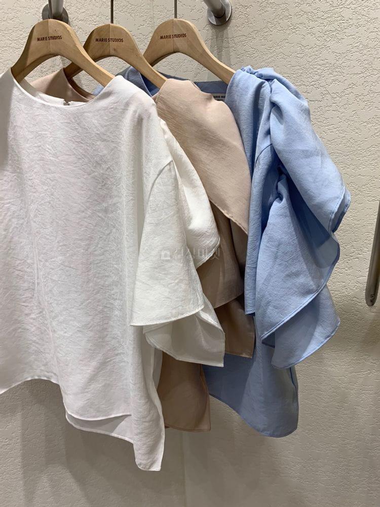 MARIE STUDIOS - BRAND - Korean Children Fashion - #Kfashion4kids - Shoulder Frill Blouse