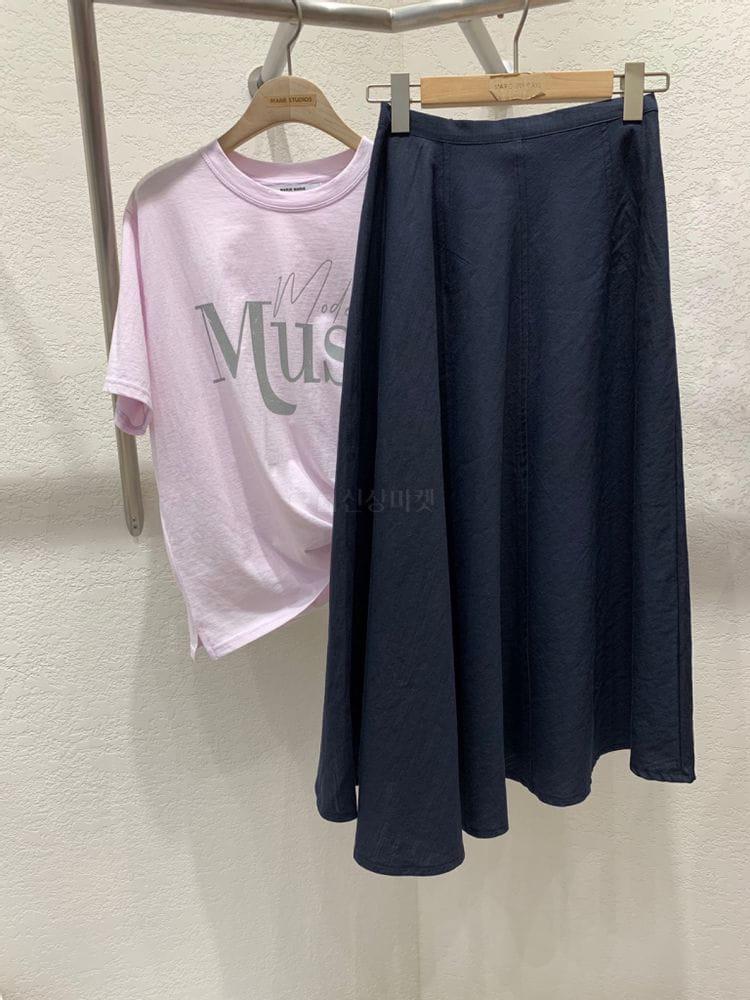MARIE STUDIOS - Korean Children Fashion - #Kfashion4kids - Troy Linen Long Skirt - 2