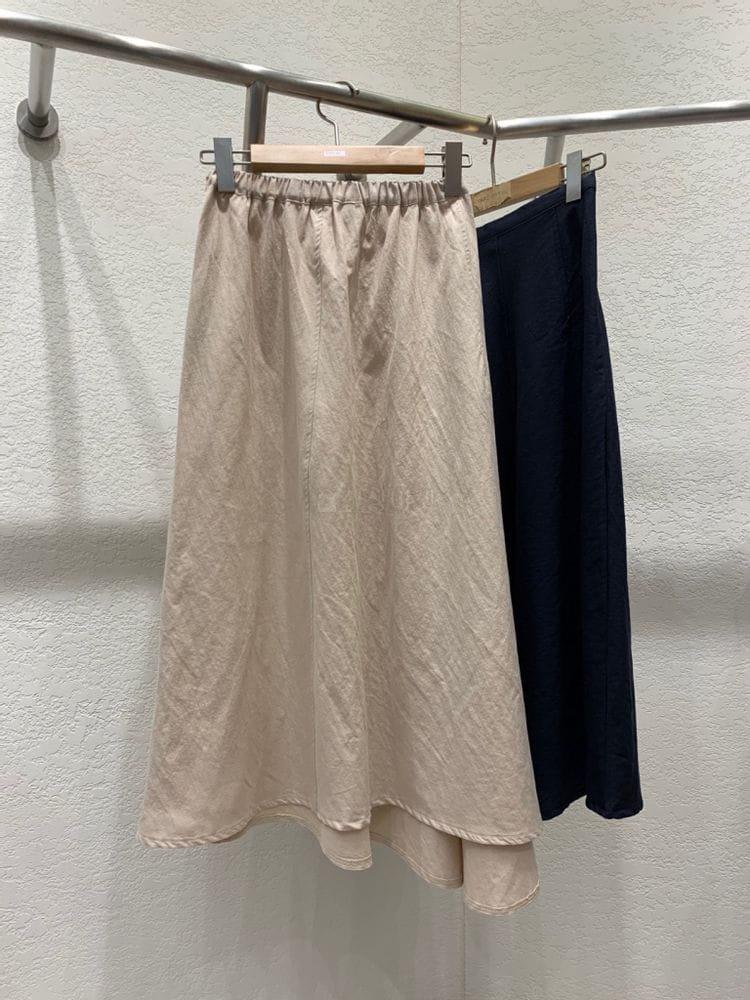 MARIE STUDIOS - Korean Children Fashion - #Kfashion4kids - Troy Linen Long Skirt - 4