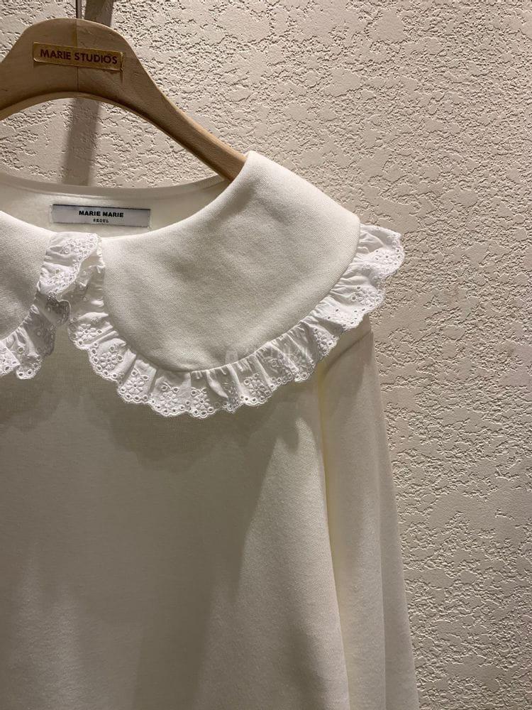 MARIE STUDIOS - Korean Children Fashion - #Kfashion4kids - Lace Sweatshirt