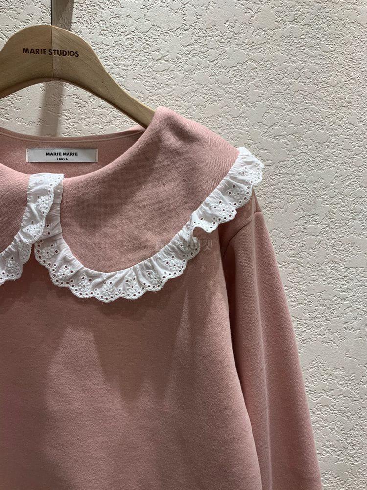 MARIE STUDIOS - Korean Children Fashion - #Kfashion4kids - Lace Sweatshirt - 4