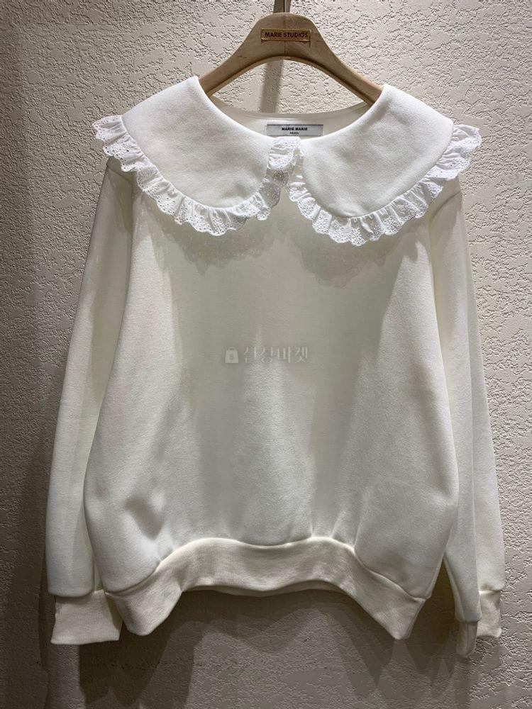 MARIE STUDIOS - BRAND - Korean Children Fashion - #Kfashion4kids - Lace Sweatshirt