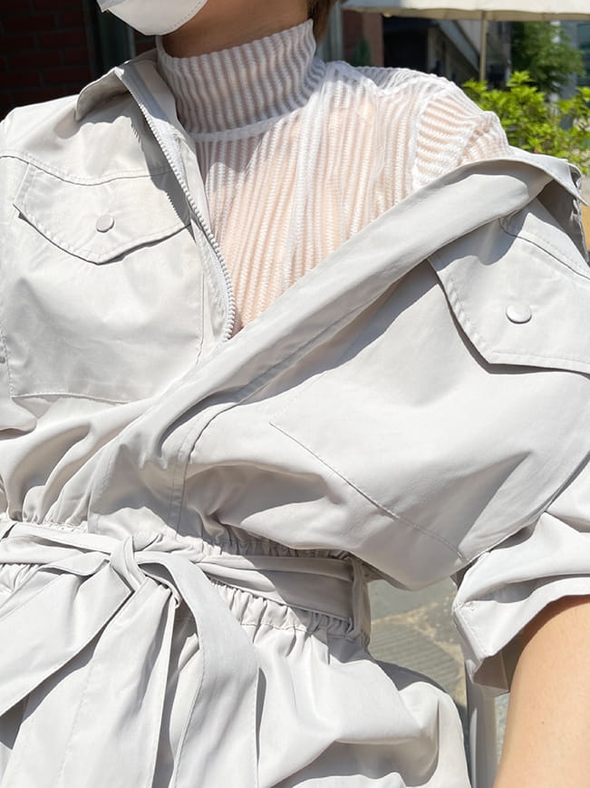 MONE - Korean Children Fashion - #Kfashion4kids - Stripe See Through Tee - 4