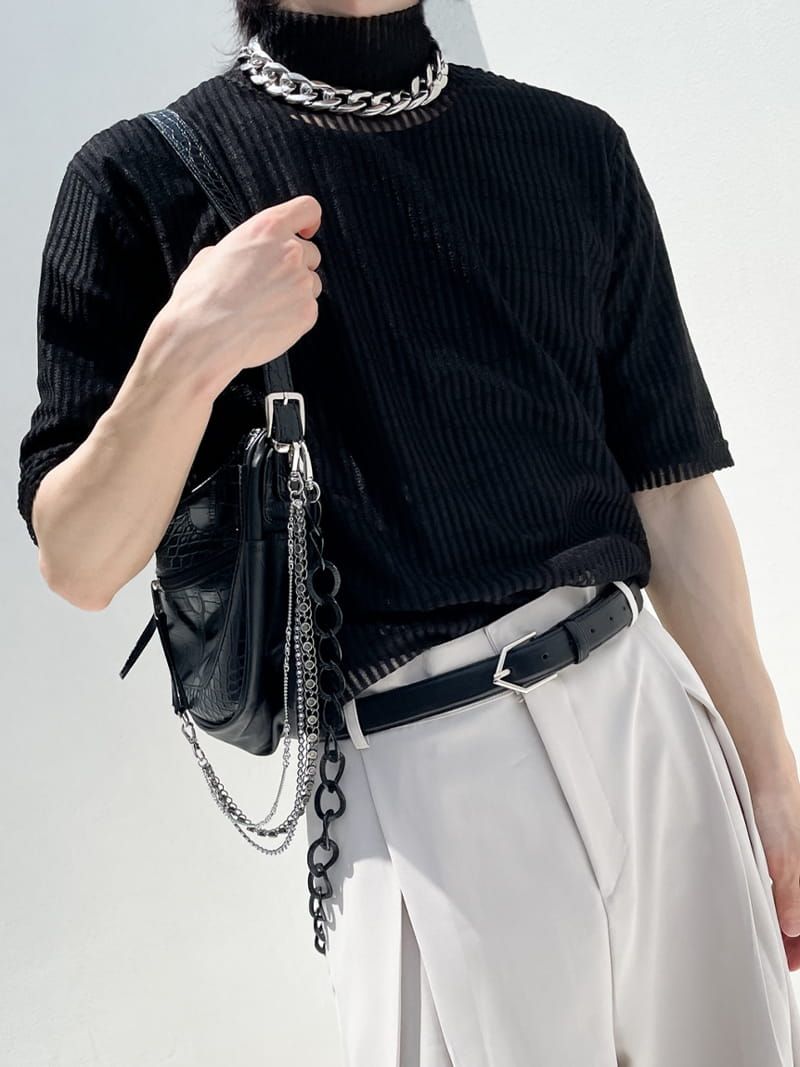 MONE - BRAND - Korean Children Fashion - #Kfashion4kids - Stripe See Through Tee