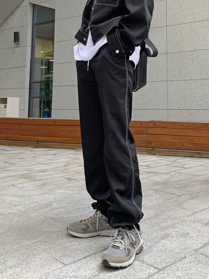 MONE - Korean Children Fashion - #Kfashion4kids - Y Stitch String Pants - 2