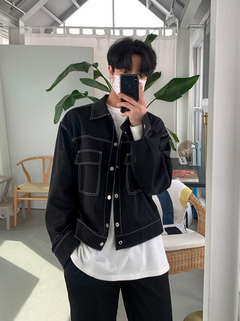 MONE - Korean Children Fashion - #Kfashion4kids - Y Stitch Jacket - 2