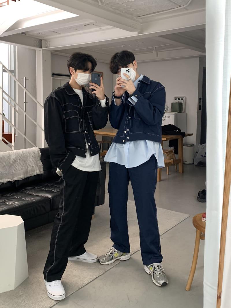MONE - Korean Children Fashion - #Kfashion4kids - Y Stitch Jacket - 3