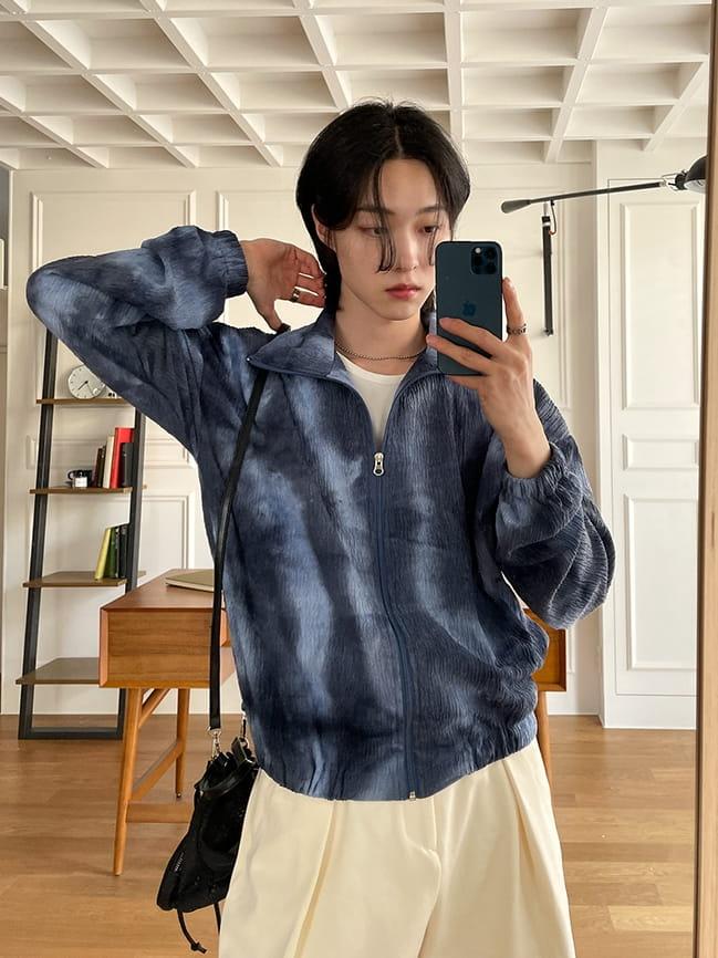 MONE - Korean Children Fashion - #Kfashion4kids - Washing Tie-dye Zip-up  - 3