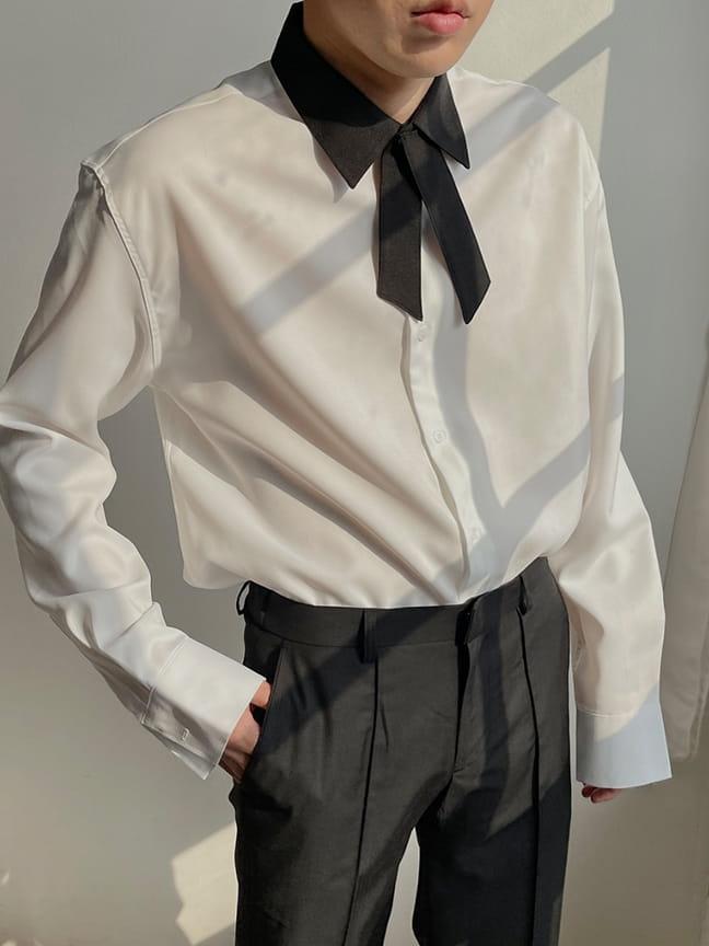 MONE - Korean Children Fashion - #Kfashion4kids - Jent Tie Color Shirt - 4