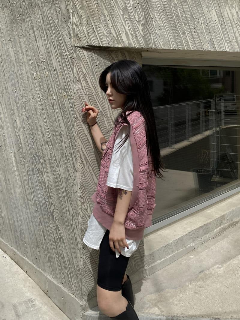 MONE - Korean Children Fashion - #Kfashion4kids - Chemical Crop Sleeveless