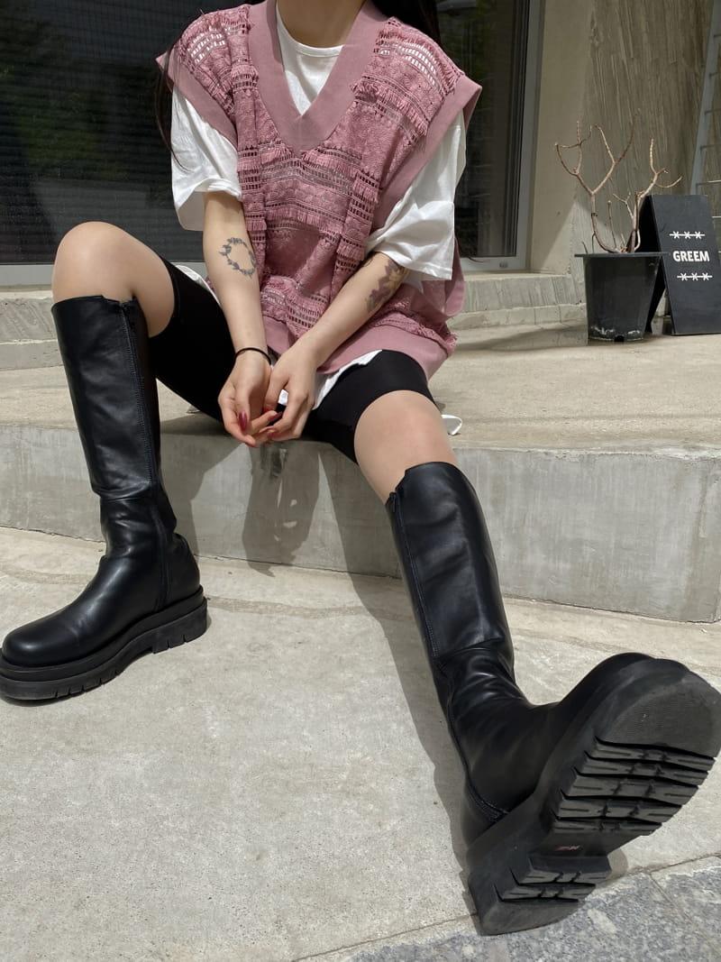 MONE - Korean Children Fashion - #Kfashion4kids - Chemical Crop Sleeveless - 2