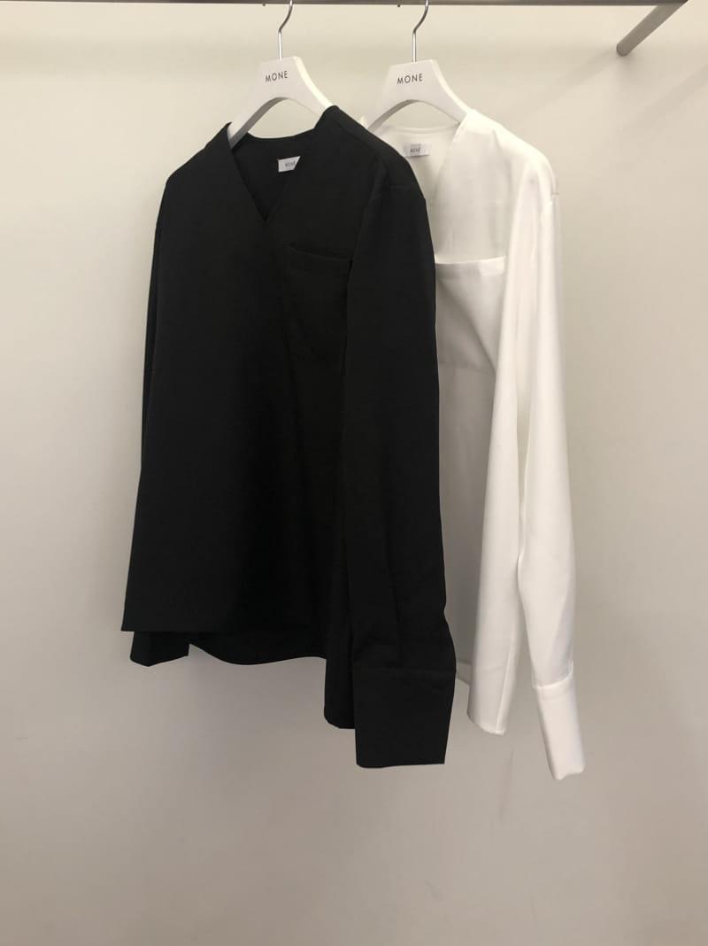 MONE - Korean Children Fashion - #Kfashion4kids - Caisson V-neck Shirt - 4