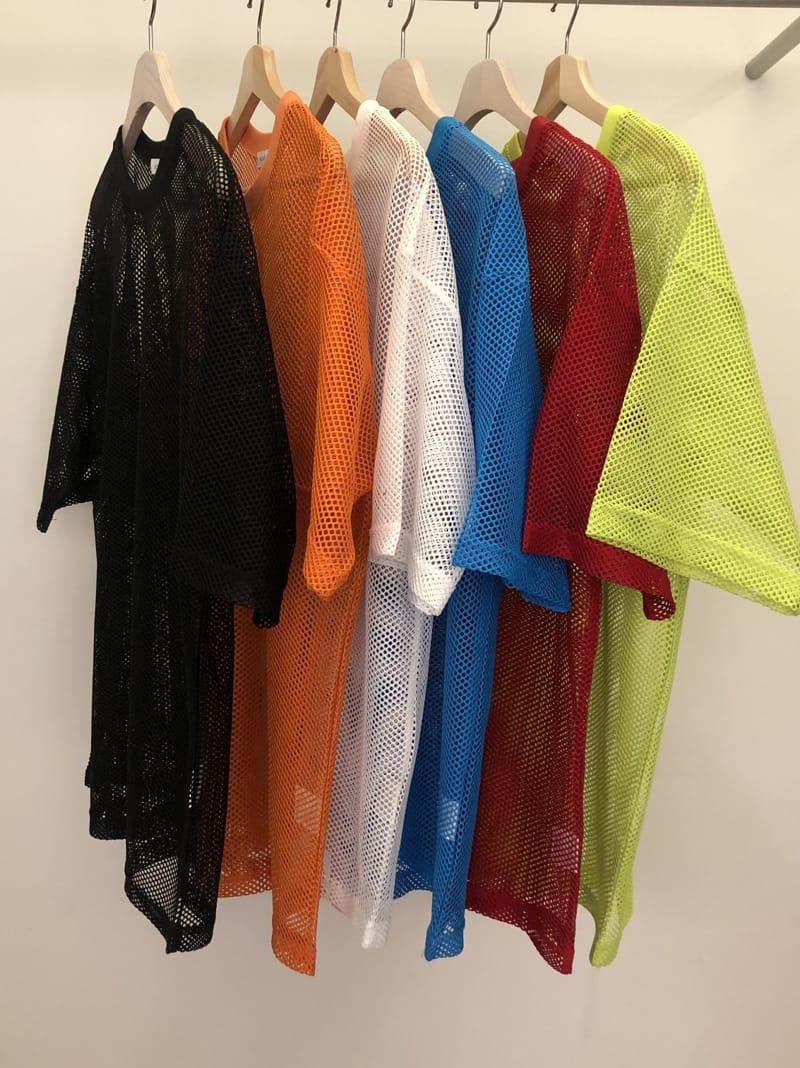 MONE - Korean Children Fashion - #Kfashion4kids - Pipe Mesh Round Short Sleeves Tee - 4