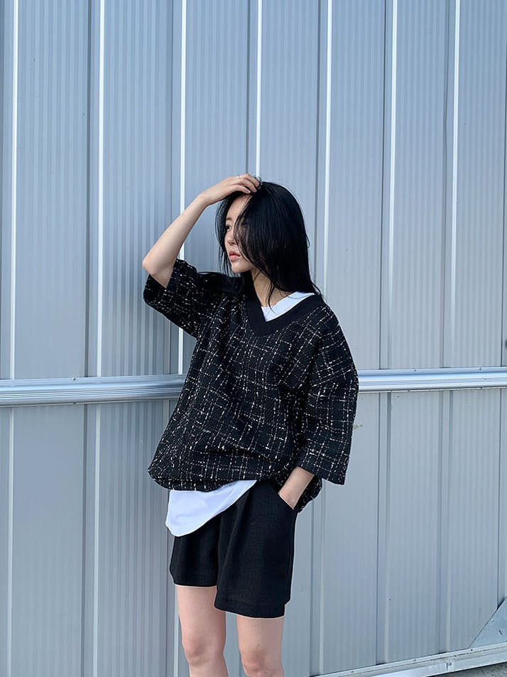 MONE - Korean Children Fashion - #Kfashion4kids - Patra Tweed Tee