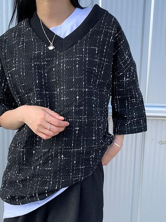 MONE - BRAND - Korean Children Fashion - #Kfashion4kids - Patra Tweed Tee