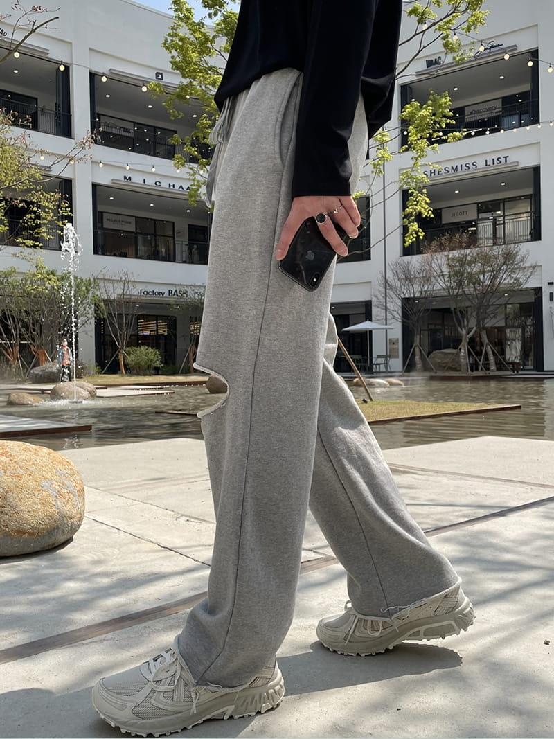 MONE - Korean Children Fashion - #Kfashion4kids - Panda Cutting Tery Pants - 2