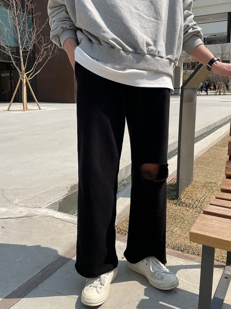 MONE - Korean Children Fashion - #Kfashion4kids - Panda Cutting Tery Pants - 3