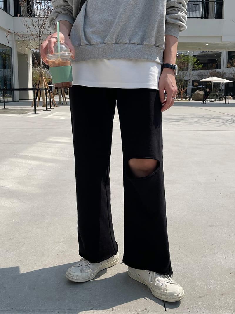 MONE - Korean Children Fashion - #Kfashion4kids - Panda Cutting Tery Pants - 4