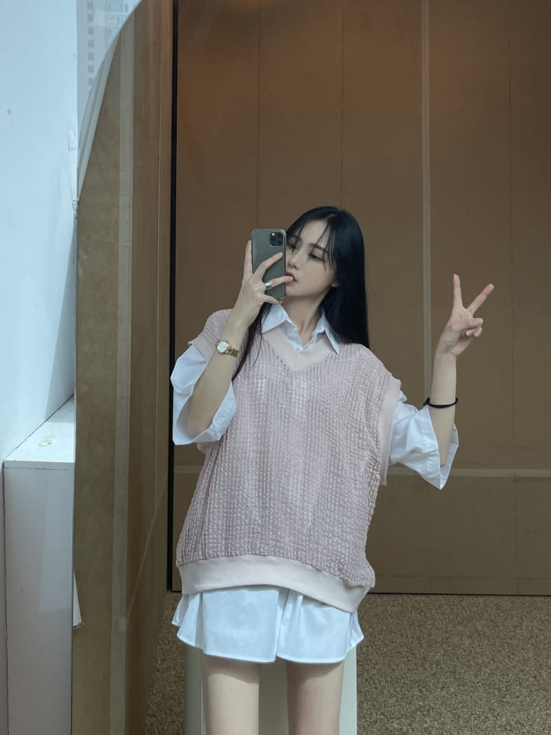 MONE - Korean Children Fashion - #Kfashion4kids - Ren Square Sleeveless - 2