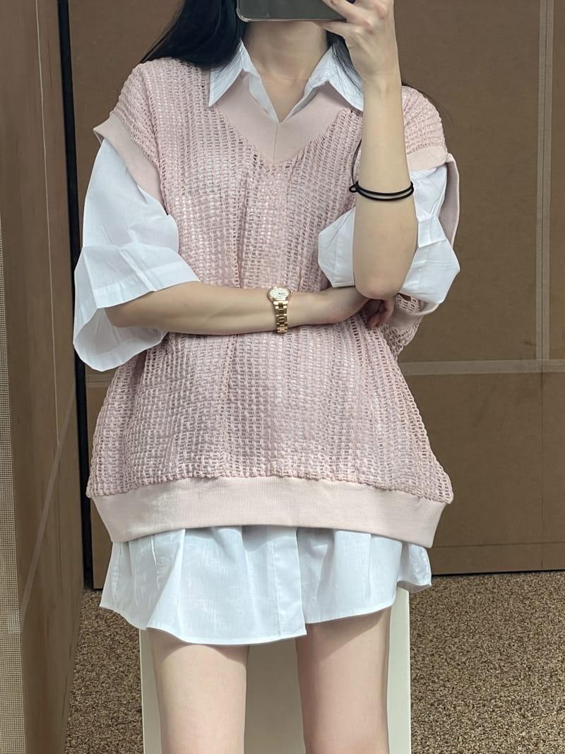 MONE - Korean Children Fashion - #Kfashion4kids - Ren Square Sleeveless - 3