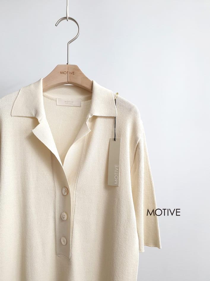 MOTIVE  - BRAND - Korean Children Fashion - #Kfashion4kids - Simple Crew Collar Tee