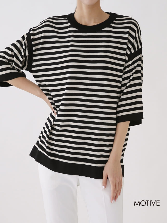 MOTIVE  - Korean Children Fashion - #Kfashion4kids - Coco Stripes Tee