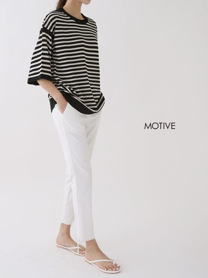 MOTIVE  - Korean Children Fashion - #Kfashion4kids - Coco Stripes Tee - 2