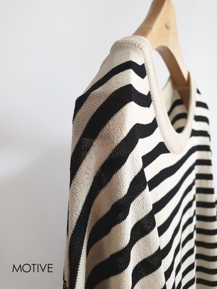 MOTIVE  - Korean Children Fashion - #Kfashion4kids - Coco Stripes Tee - 4