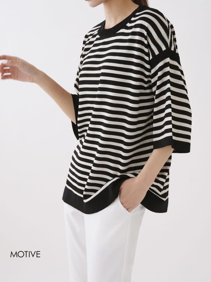 MOTIVE  - BRAND - Korean Children Fashion - #Kfashion4kids - Coco Stripes Tee